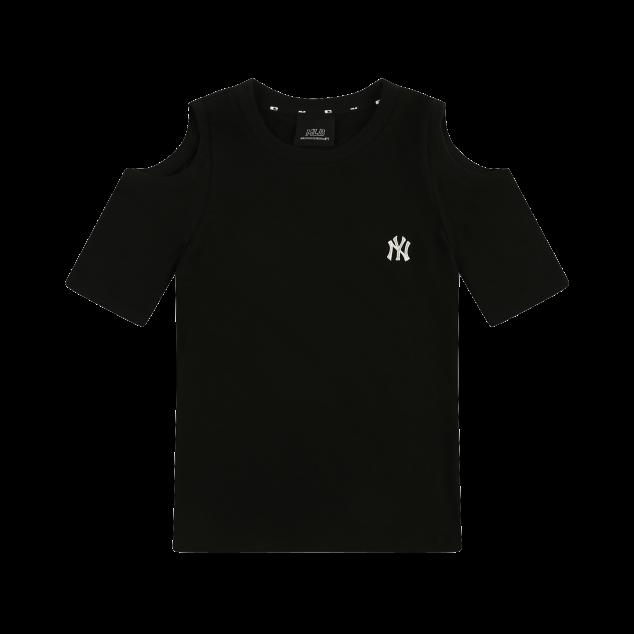 어깨트임 슬림핏 8부 티셔츠 뉴욕양키스