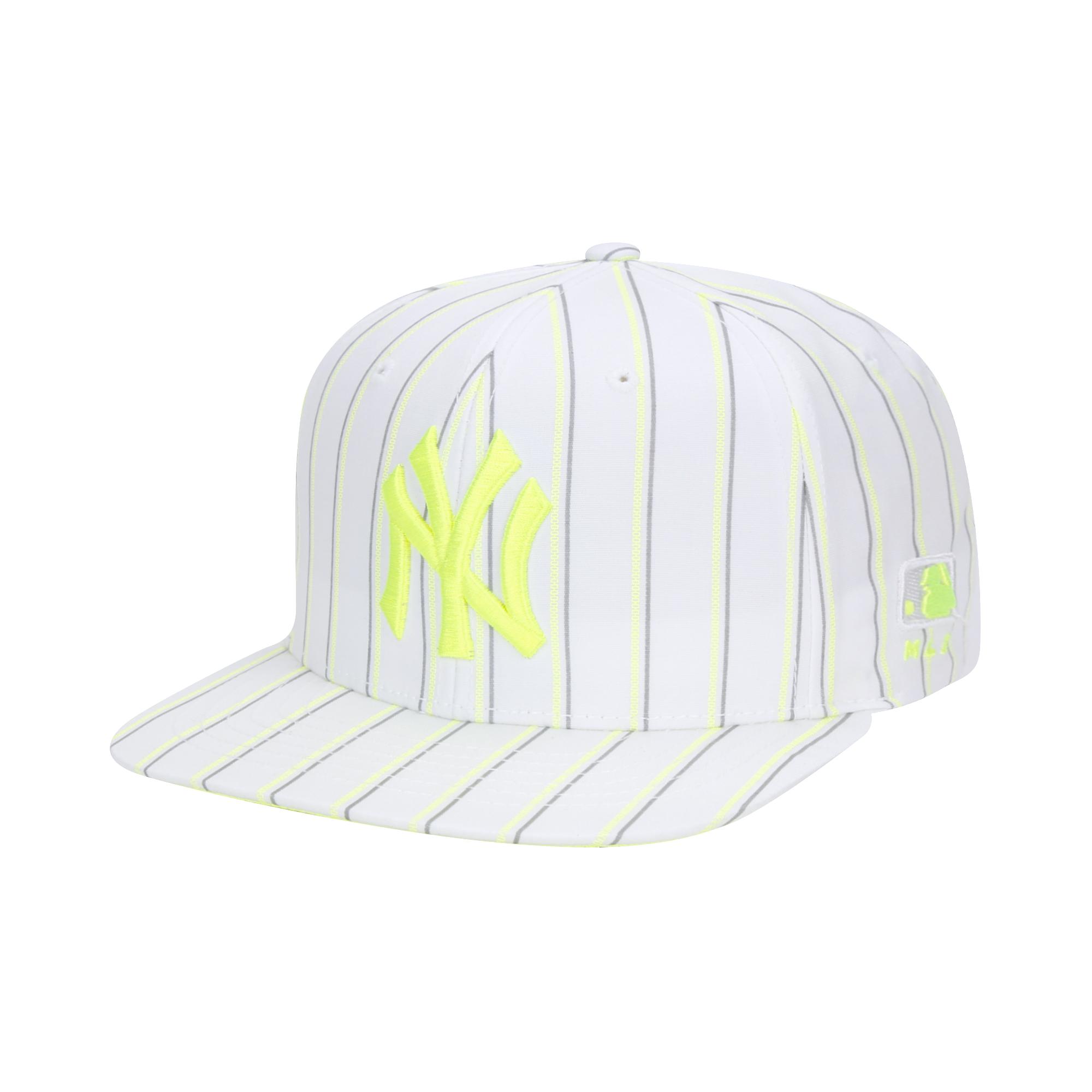 형광 로고 스트라이프 스냅백 뉴욕양키스