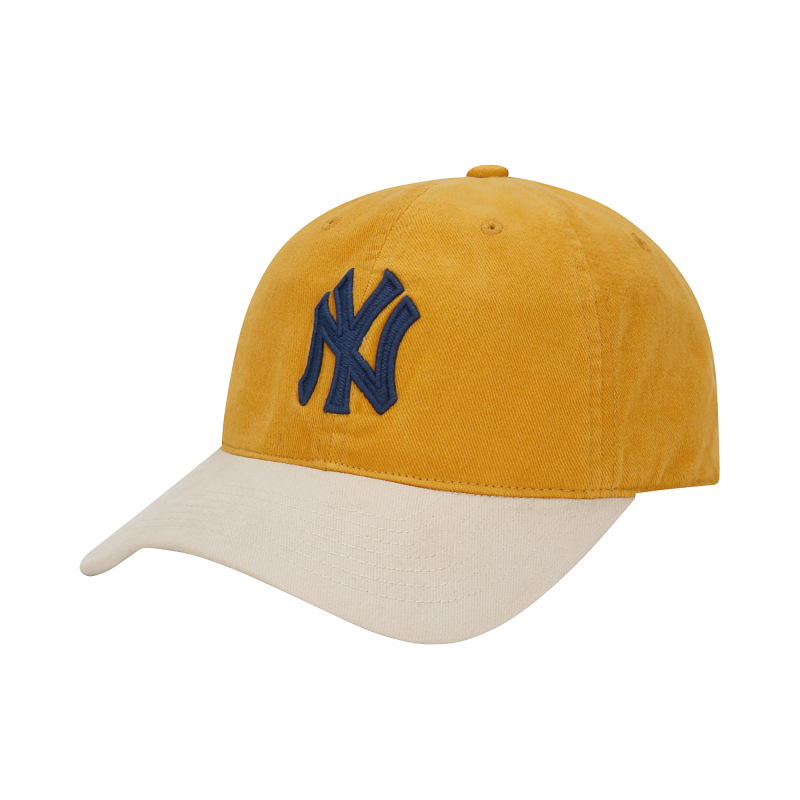 엠엘비(MLB) N-COVER 빈티지 볼캡 NY (MUSTARD)