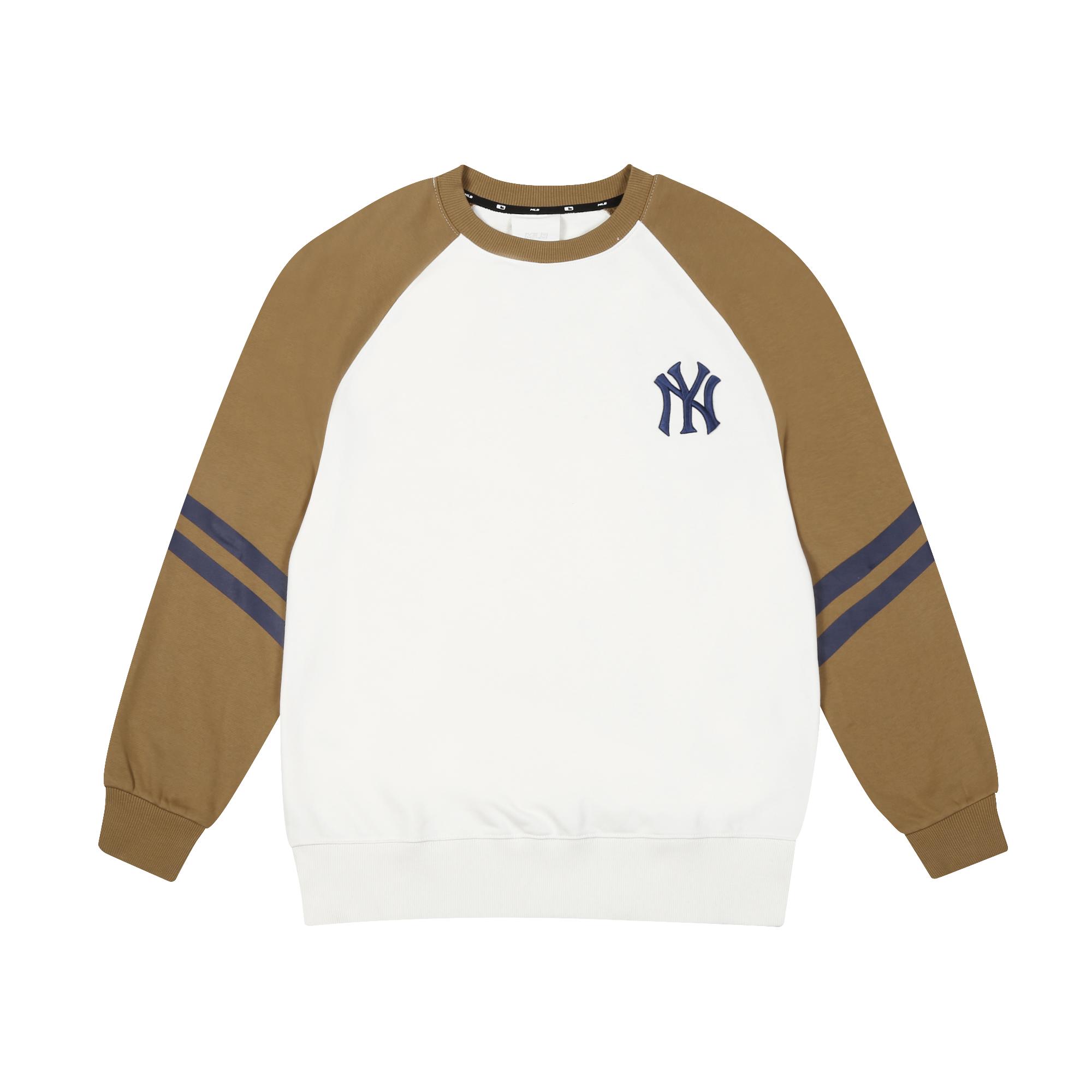 탑골 소매배색 나글란 오버핏 맨투맨 뉴욕양키스