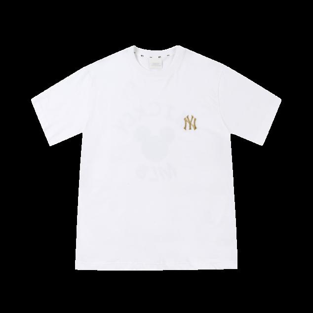 [해외전용] MLB X MICKEY MOUSE 3CIRCLE 반팔 티셔츠 뉴욕양키스