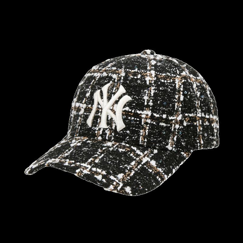 엠엘비(MLB) 제니 트위드 커브조절캡 NY (BLACK)