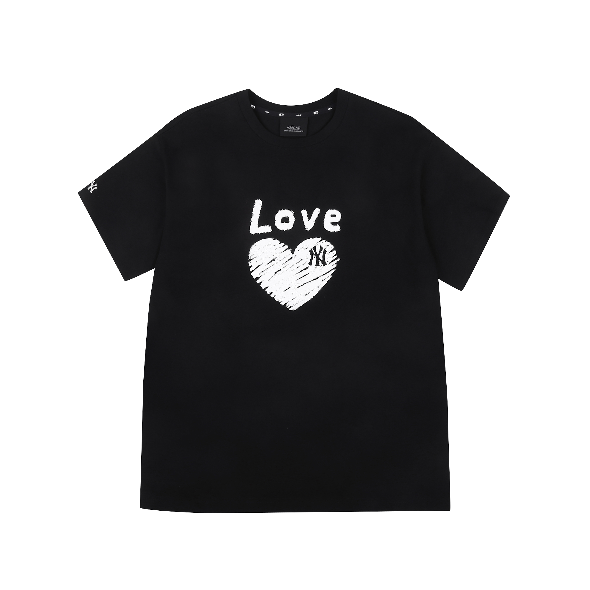 하트 러브 오버핏 반팔 티셔츠 뉴욕양키스