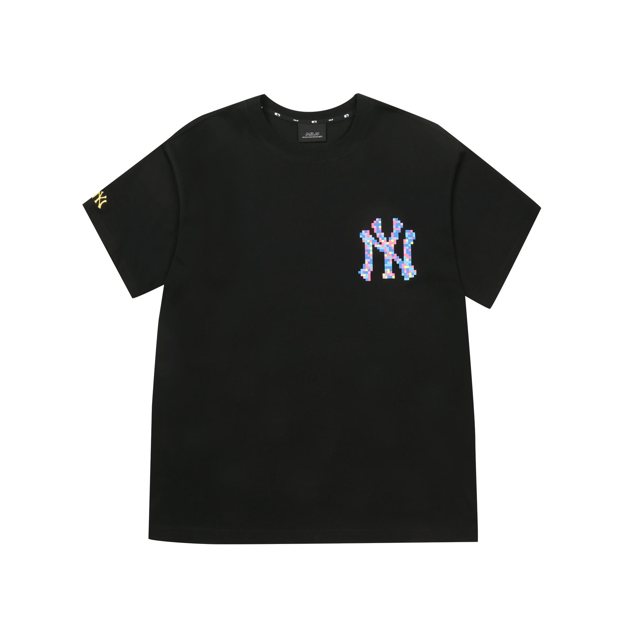PLAY 픽셀 로고 오버핏 반팔 티셔츠 뉴욕양키스