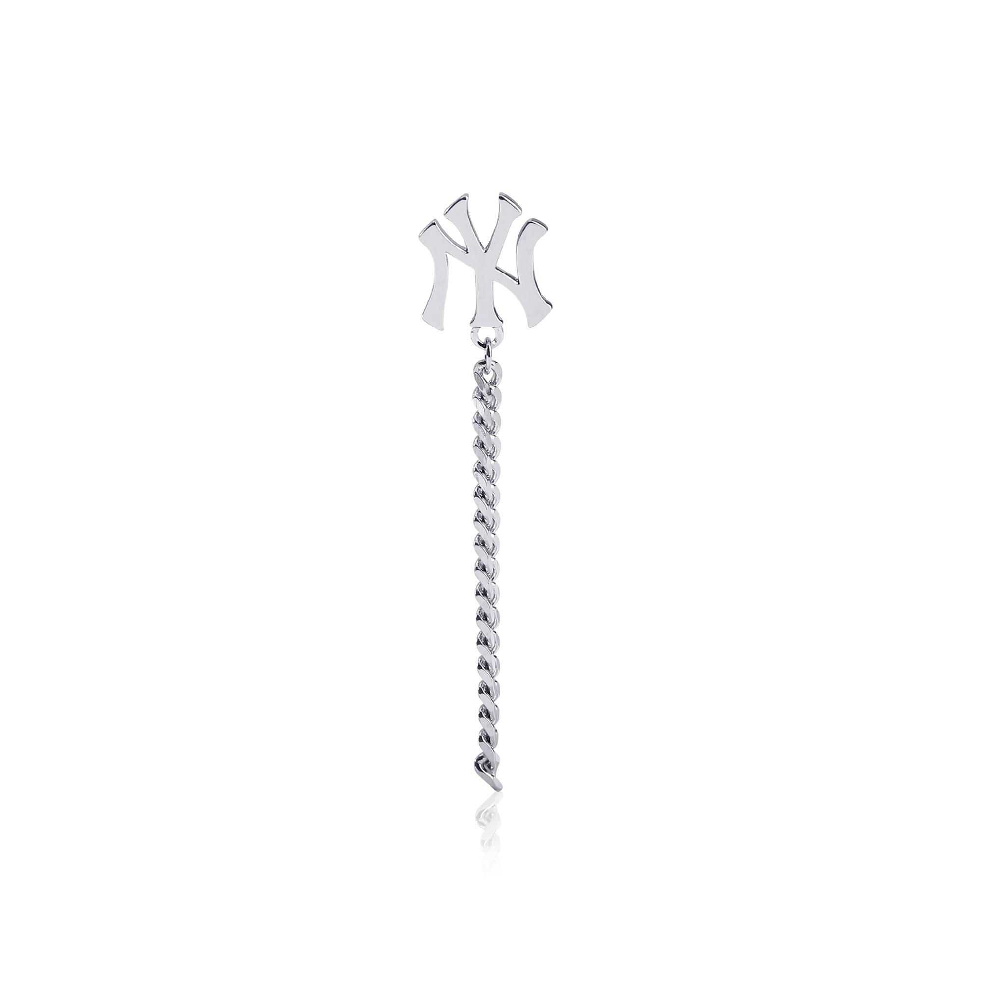 로고 체인 싱글 귀걸이 뉴욕양키스