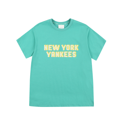 PLAY 픽셀 레터링 오버핏 반팔 티셔츠 뉴욕양키스