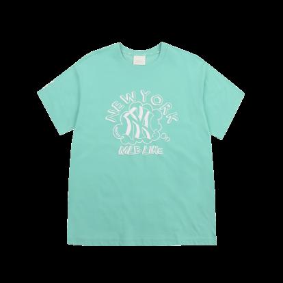 LIKE 단색 팝콘 오버핏 반팔 티셔츠 뉴욕양키스