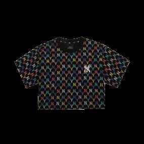 여성 모노그램 멀티 크롭 반팔 티셔츠 뉴욕양키스