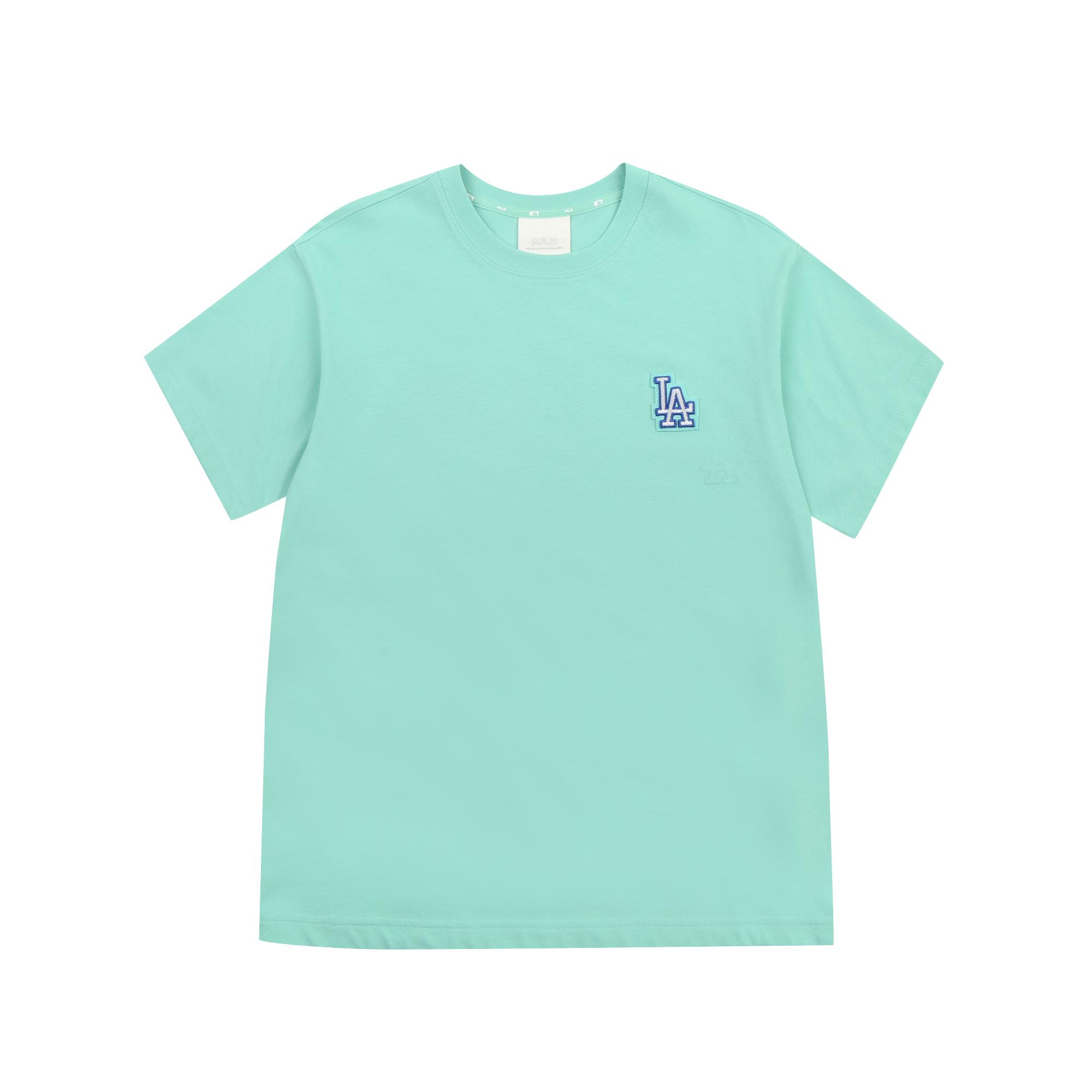로고 베이직 와펜 오버핏 반팔 티셔츠 LA다저스