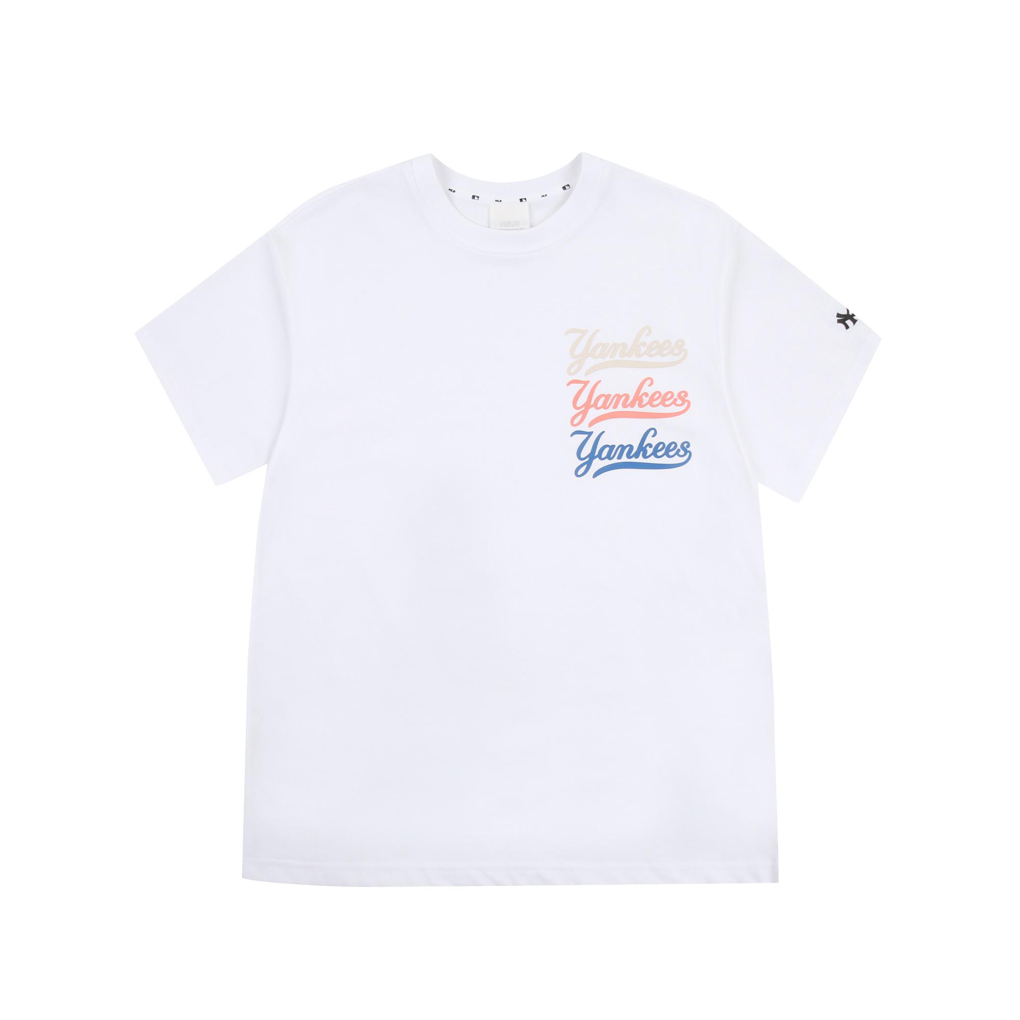 베이직 클래식 로고 트리플 반팔 티셔츠 뉴욕양키스