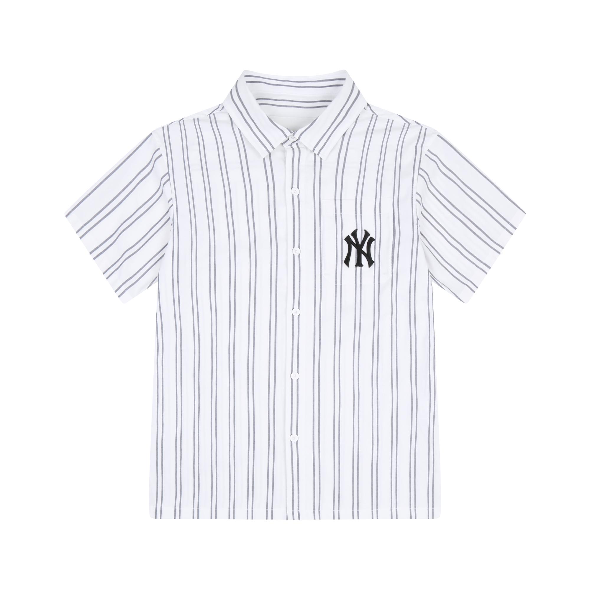 PRIDE TAG 스트라이프 반팔 셔츠 뉴욕양키스