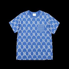 모노그램 믹스 포켓 오버핏 반팔 티셔츠 뉴욕양키스