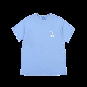 로고 베이직 가먼트 다잉 오버핏 반팔 티셔츠 LA다저스
