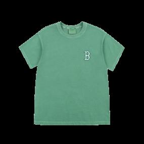 로고 베이직 가먼트 다잉 오버핏 반팔 티셔츠 보스턴 레드삭스
