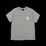로고 베이직 가먼트 다잉 오버핏 반팔 티셔츠 뉴욕양키스