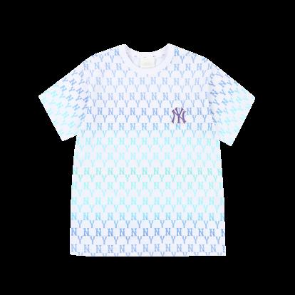 모노그램 올오버 그라데이션 오버핏 반팔 티셔츠 뉴욕양키스