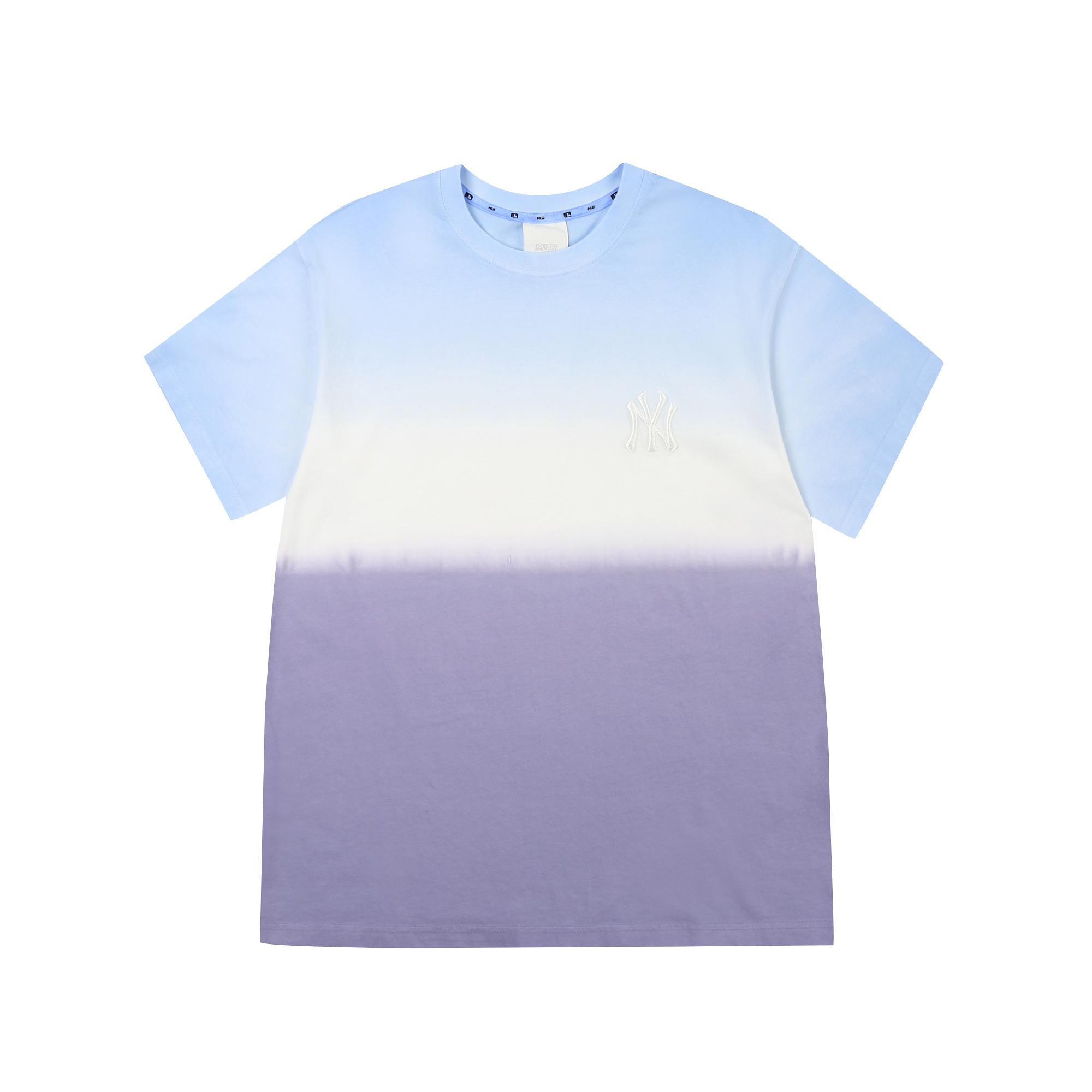 로고 베이직 타이 다잉 오버핏 반팔 티셔츠 뉴욕양키스
