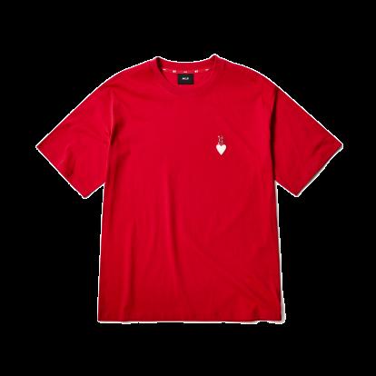 하트 오버핏 반팔 티셔츠 보스턴 레드삭스