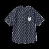 자카드 모노그램 데님 베이스볼 셔츠 뉴욕양키스