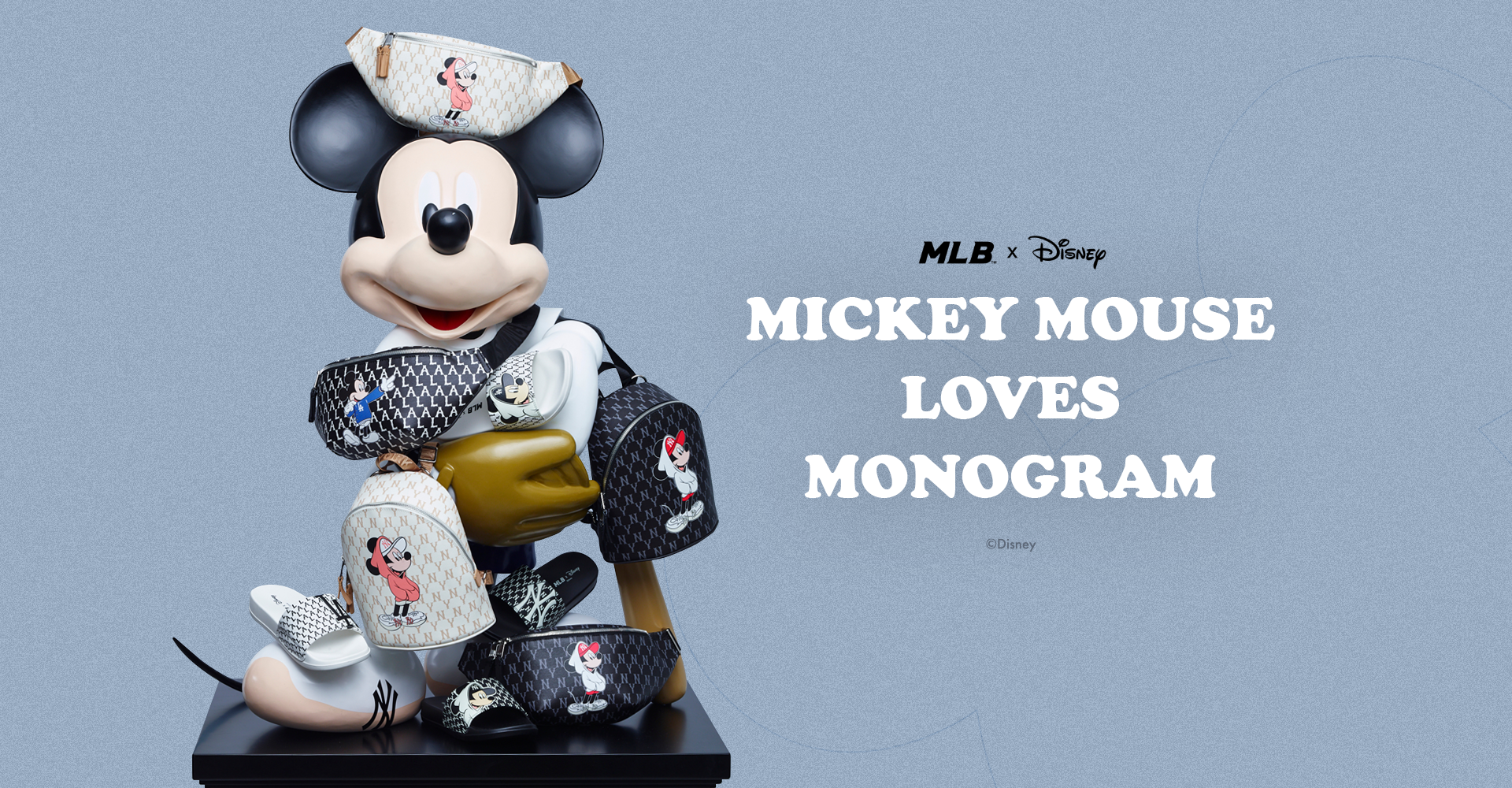 MLB X DISNEY Mickey mouse Loves Monogram